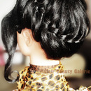 Crown Braiding Explosion Updo