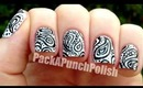Black and White Paisley Nail Art Tutorial