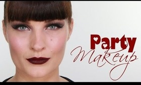 PARTY VAMP MAKE-UP & TOP KNOT HAIR STYLE