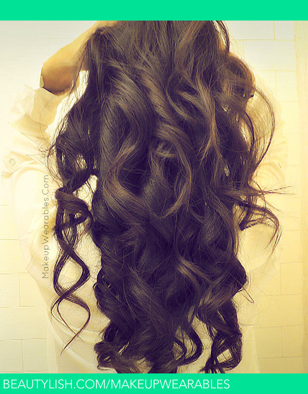 Curly Brown Hair From The Back
