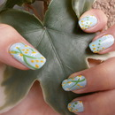 Garden themed nail art