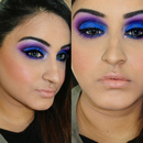 Bold Blue&Purple Cut Crease