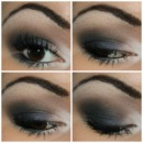 Navy Smokey Eye