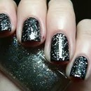 Love this Black Polish With Silver Glitter