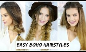 3 Easy Boho Hairstyles | Luxy Hair