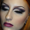Sultry sexy dramatic cut crease smokey eye makeup look / Bridezilla make-up tutorial / Gothic dark
