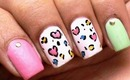 Toothpick Nail Art - Heart Leopard for Valentines Day ! Beginners nails designs cute nail polish