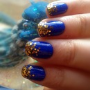 Blue & gold nailwear :)