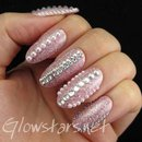 Pink glitter, rhinestones and pearls