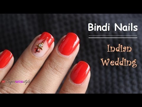 Indian Wedding Nails Superwowstyle Bindi Nail Designs No Tools