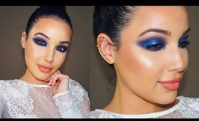 Editorial Blue Makeup Tutorial  | No False Lashes