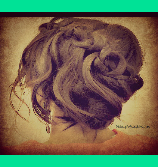 Updo - on yourself - for medium hair and for long hair. http://www
