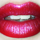 Glowing Red Holiday Lip!