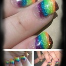 Gay Pride Nails.