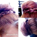 Messy Bun with a Braided Twist