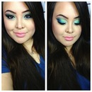 Blue and Green Spring Makeup Look