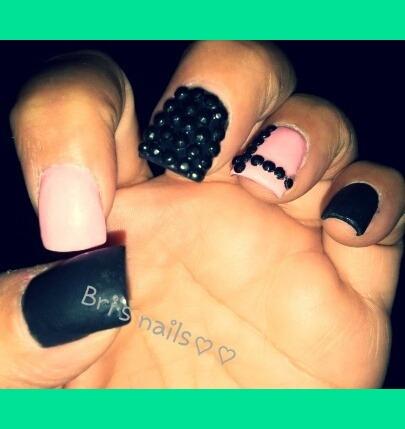 short acrylic nails  brittany g's bribee photo