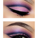 Pink And Blue Cut Crease