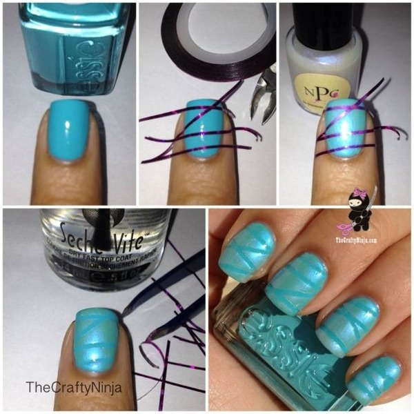 How To Use Nail Striping Tape Thecraftyninja Hs Thecraftyninja