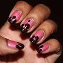 Strawberry Chocolate Drip Nails