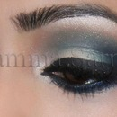 Teal Blues & Nudes Smokey Eyes