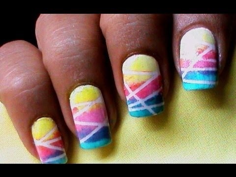 gradient nail polish designs cute ombre bright nail art