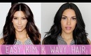 Easy Kim K Wavy Hair Tutorial (My Everyday Hair)