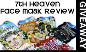 7th Heaven Face Mask  Review And GIVEAWAY!!! ○Beauty2Envy○