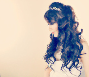 The YouTube hair tutorial for this, romantic,  curly half-up hairstyle can be found here.  :)