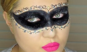 Masquerade Mask Halloween Makeup/Collab