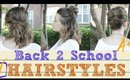 Three 1 Minute Hairstyles Fast and Easy Back to School Hair Tutorial