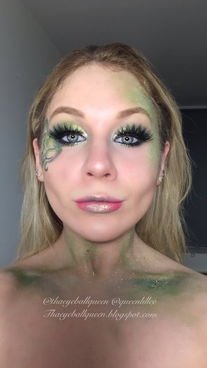Hey guys!  In addition to my Elsa Halloween look I wanted to do a Poison Ivy inspired look!  Full details on my blog:  http://theyeballqueen.blogspot.com/2015/10/poison-ivy-makeup-tutorial.html