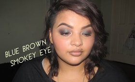 Full Face: Blue Brown Smokey Eye