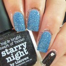 Blue Textured Accent Nail