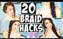 20 BRAID HAIR HACKS Every Girl Should Know!