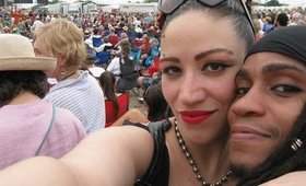 Lady Zombie & Ali Fangsmith in New Orleans for Jazz Fest 2015