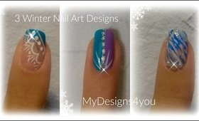 3 Winter Nail Art Designs | 3 Зимних Дизайна Ногтей ♥