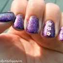 Purple Flakie Nails
