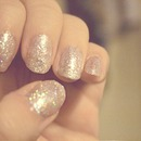 Light Glitter nail Polish.