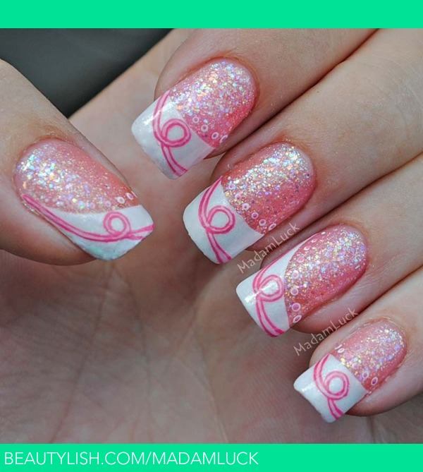 Breast Cancer Awareness Inspired Nail Art | Amanda S.