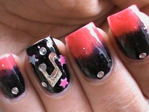 Pink Punk Out Music Rocker Gradient Nail Polish Nails Ombre