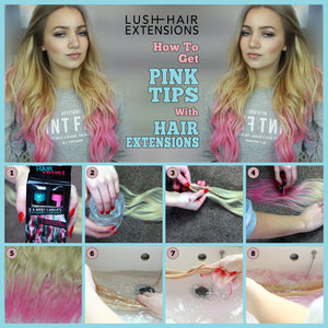 How to use hair chalk on extensions