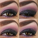 Purple and black smokey eyes