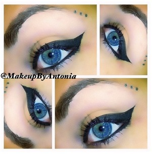 Cat eye with jewels.