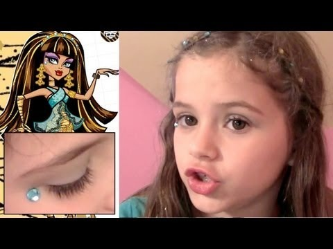 monster high makeup scary cute beauty set tutorial for