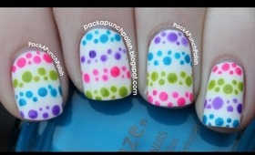 Polka Dot Stripes Nail Art Tutorial