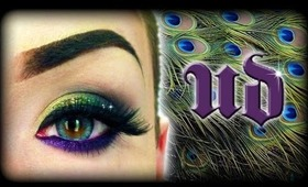 Urban Decay Makeup Tutorial - Sparkly Peacock