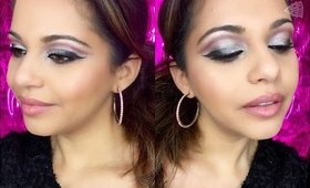 Happy New Year! Pink Metallic Cut Crease and Pop of Glitter