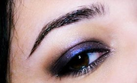 URBAN DECAY Vice| Blue and shimmer eye makeup tutorial