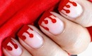 Dripping Blood Nails - Halloween Nail art For Kids Easy Video Tutorial Tips Short Nail Designs